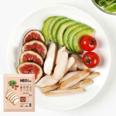 [허닭] 샐러드 슬라이스 닭가슴살 훈제 100g