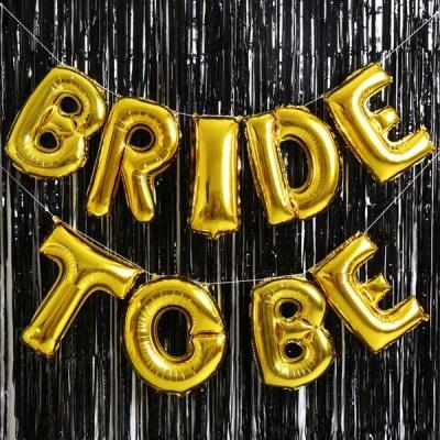 은박풍선 커튼세트 (BRIDE TO BE) 골드