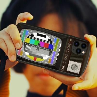 아이폰11 PRO XR XS SE2 8 텔레비전 강화유리 케이스