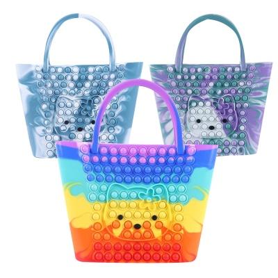무지개 푸쉬팝 팝잇 고양이 장바구니 에코백 핸드백