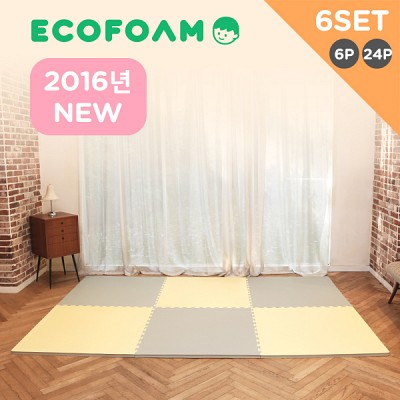 [에코폼]2016년 어린이제품 보호법 KC인증 맘편한매트 6세트/층간소음방지/놀이방매트/퍼즐매트