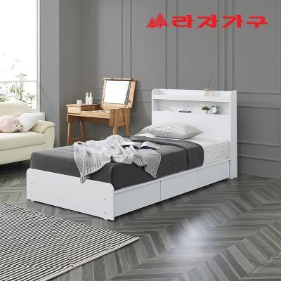 로뇽 수납 LED 슈퍼싱글 침대 SS+매트리스 포함