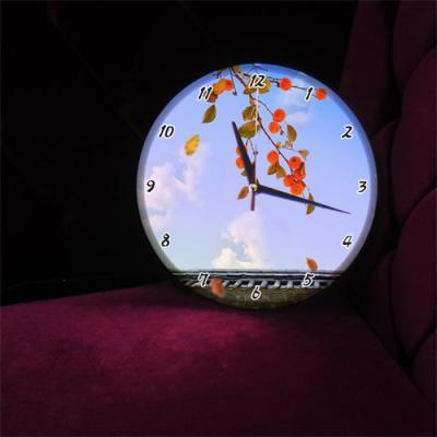 ng170-LED시계액자25R_돈들어오는감그림
