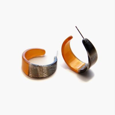 제이로렌 0M02043 셀룰로이드 호피 링 귀걸이
