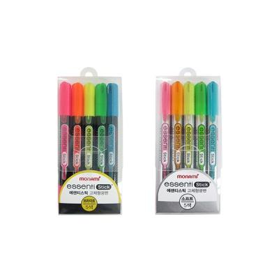 모나미 에센티스틱 5색세트 형광펜[00400821]