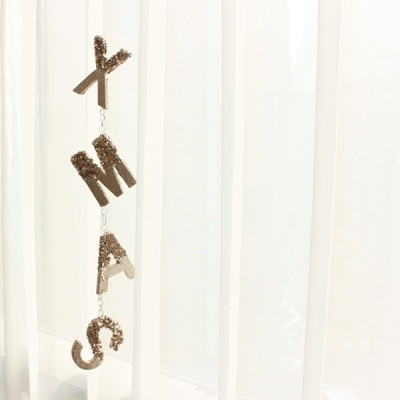 x-mas 스팽글 레터링