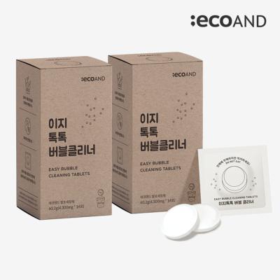 [에코앤드]이지톡톡 버블클리너 1종세척제 2Box(28포)