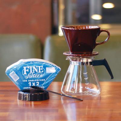 커피두콩 핸드드립세트 (도자기+필터+유리서버)