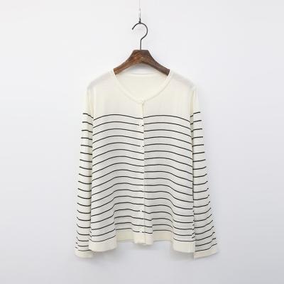 Stripe Box Knit Cardigan