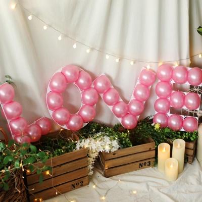 LOVE 프레임 풍선세트(핑크)