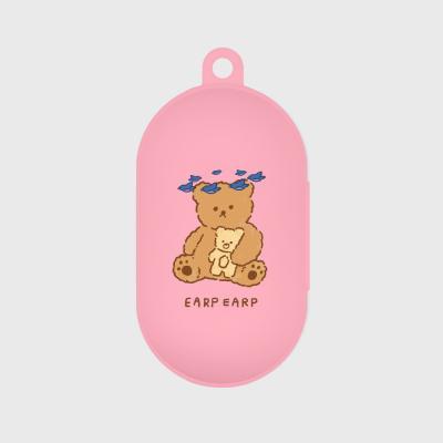 blue bird bear-pink(buds jelly case)