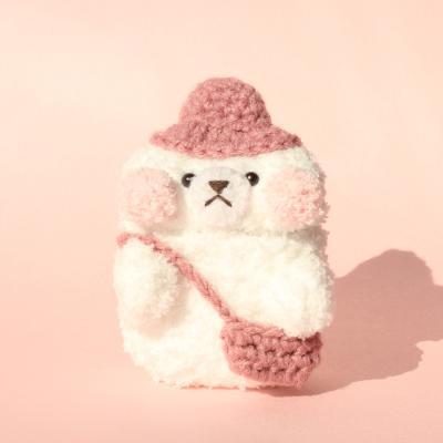 레이지띵 핑크 니트 래빗띵 뜨개 에어팟 케이스