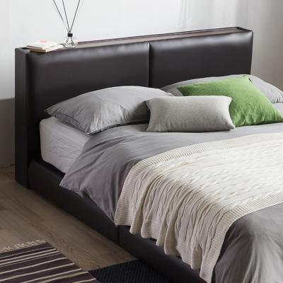 [랜선할인]가죽 쿠션형 침대 퀸(본넬매트) DW108