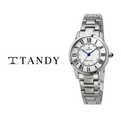 탠디 클래식 커플 메탈 손목시계 T-3714 여자 화이트