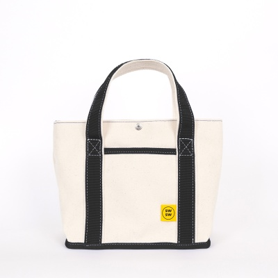 CHOU CHOU TOTE BAG Ecru-black