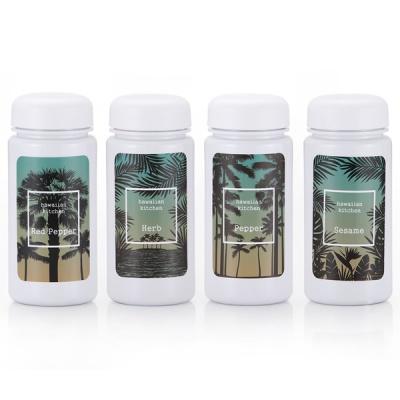 하와이안키친 유백색 양념통 4P+스티커 8종