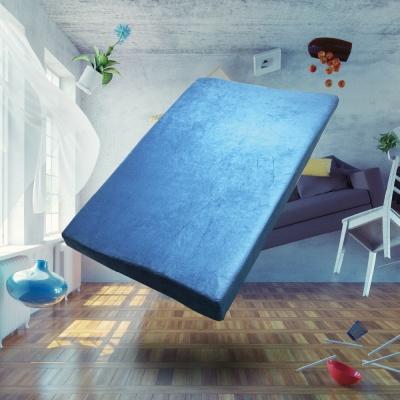 롤팩 메모리폼 무중력 침대 매트리스 다크 블루 미국