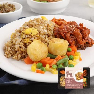 [허닭] 잡곡밥 도시락 스크램블현미귀리밥 250g 1+1