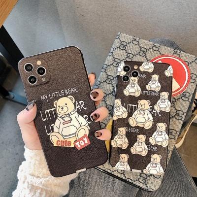 아이폰xr xs max se2 8 7 곰돌이 패턴 휴대폰 케이스