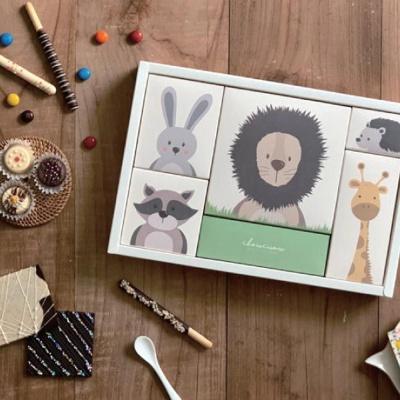 기념일 선물 포장 초콜릿 종이 동물 박스 세트