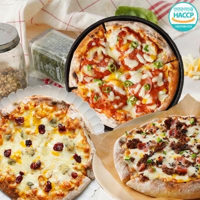 불고기피자+페페로니 피자+고르곤베리 피자