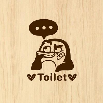 펭키 toilet_shower [포인트스티커/화장실스티커/욕실스티커]