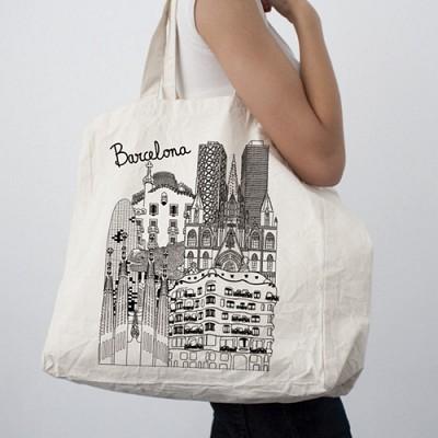 [4만마켓] 바르셀로나 스케치 에코백