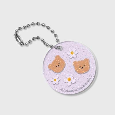 Dot flower bear(글리터키링-퍼플)