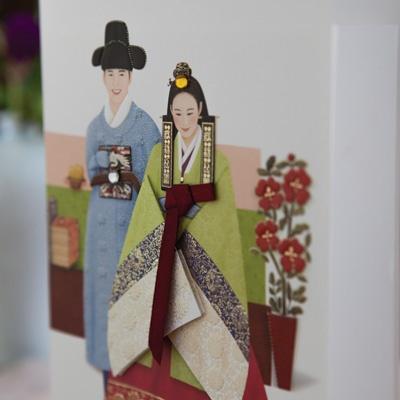 카드/축하카드/감사카드/연하장 옥오지애 한복카드 FT224-3