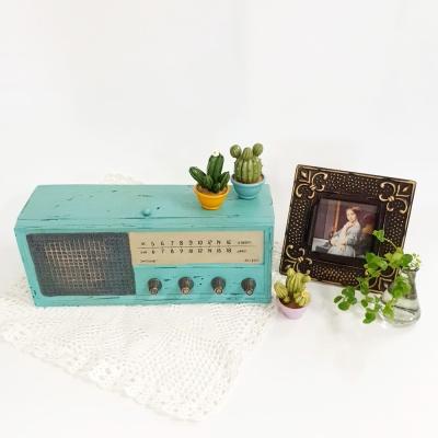 레트로 데코 소품 아메리카 라디오