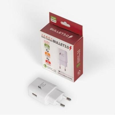에이스QC3.0 화이트 USB 케이블미포함 자동차충전기