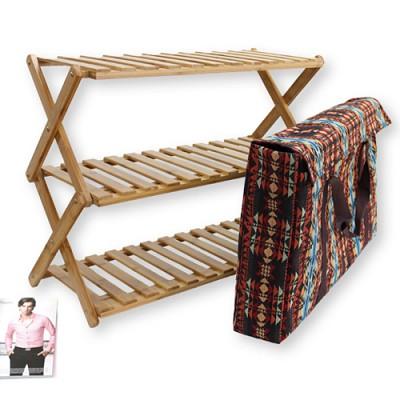 감성캠핑용품 프리미엄 우드 쉘프(대나무 수납장)+전용가방포함