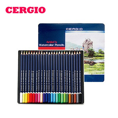 부드러운 질감 세르지오 수채색연필 24색