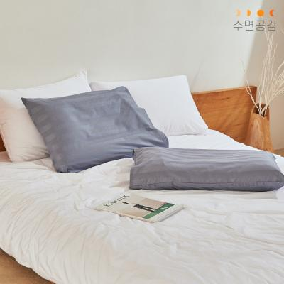[수면공감] 우유베개 도비직 커버(50X70)/블루