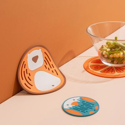 동물 과일 실리콘받침 코스터 냄비받침