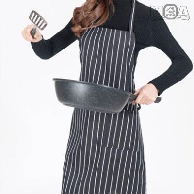 고급 블랙 핀 스트라이프 앞치마 윤식당앞치마