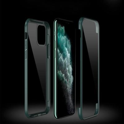 아이폰11 PRO MAX 컬러 라인 강화유리 하드 폰케이스