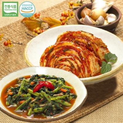[명가김치] 100% 국내산 맛김치 5kg+열무김치 1kg