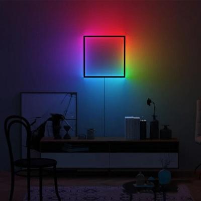 북유럽 RGB 네모 거실 침실 카페 벽걸이 조명
