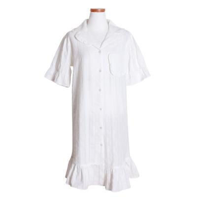 [쿠비카]밀크 프릴 반팔 원피스 여성잠옷 W479