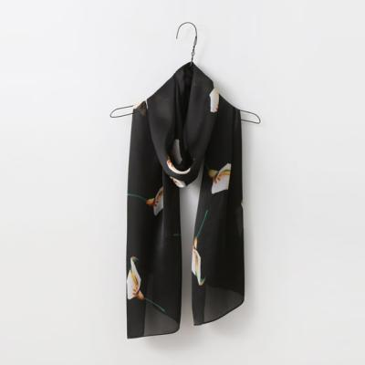 Silk Lily Long Scarf