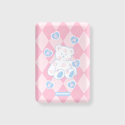 Soft bear-pink(무선충전보조배터리)