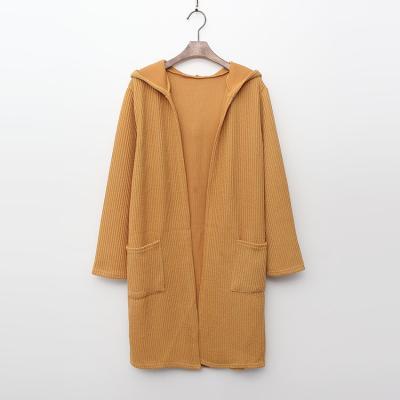 Simple Golgi Hood Long Cardigan
