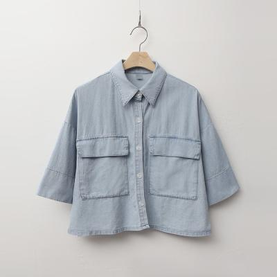 Kokos Denim Crop Shirts