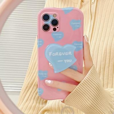 아이폰 케이스 12 11 프로 맥스 핑크 하트 스마트톡