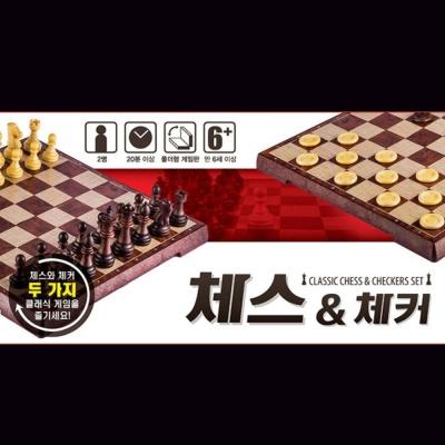 사용연령 6세이상 2명 20분 체스앤체커 보드 게임