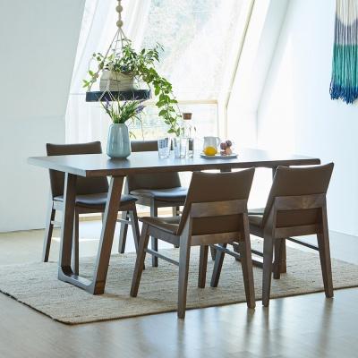 [리비니아]와트 코지 고무나무원목 4인용 식탁세트