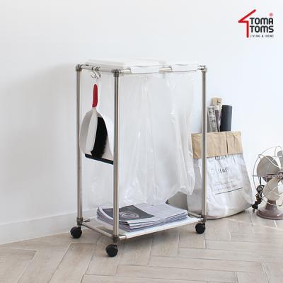 [토마톰스]재활용 화이트 분리수거함 사각 2P