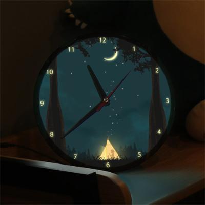 ng098-LED시계액자25R_별헤는밤