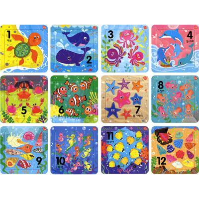 9 16조각 판퍼즐 - 아기지능방 숫자 (12종)